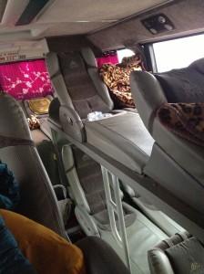 Our sleeper bus to Sapa